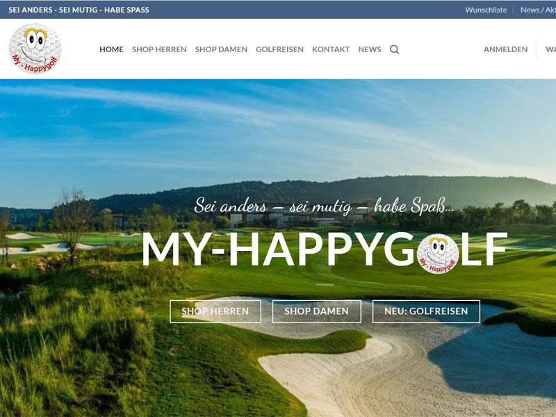 My -Happygolf | Shop mit Wordpress