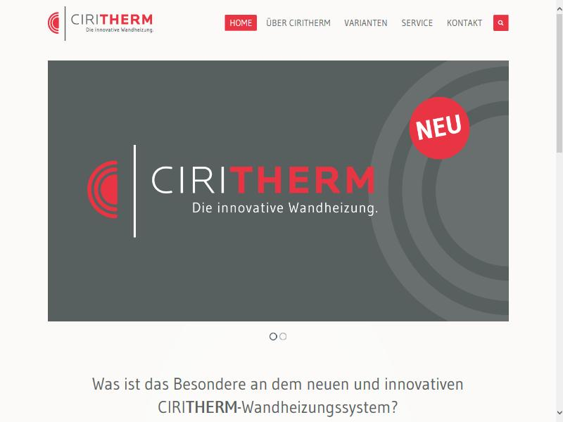 Ciritherm - Innovative Wandheizung